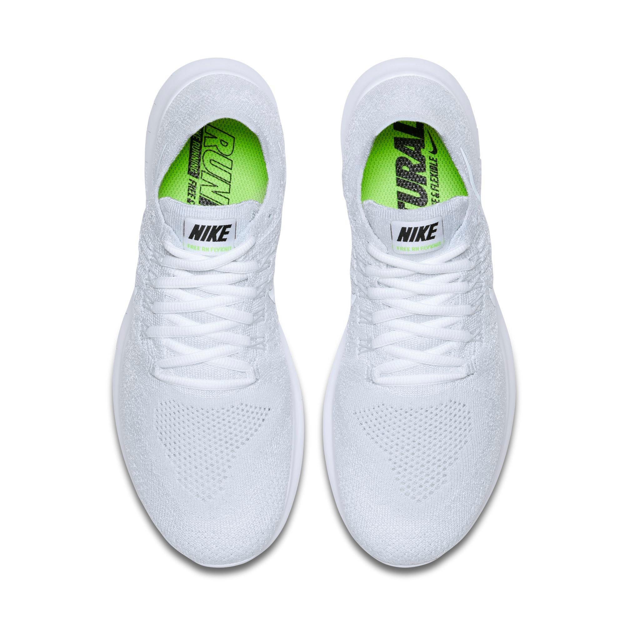 white nike free run shoes