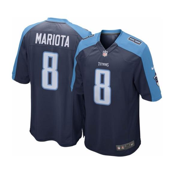half off 3b9b7 28bb1 Nike Youth Home Game Jersey Tennessee Titans Marcus Mariota ...