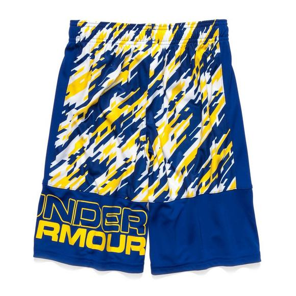 3b151d0af Under Armour Boys' Stunt Printed Shorts- Yellow/Royal - Main Container  Image 2