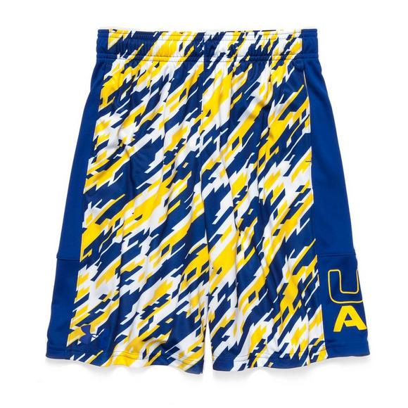 036da743d Under Armour Boys  Stunt Printed Shorts- Yellow Royal - Main Container  Image 1