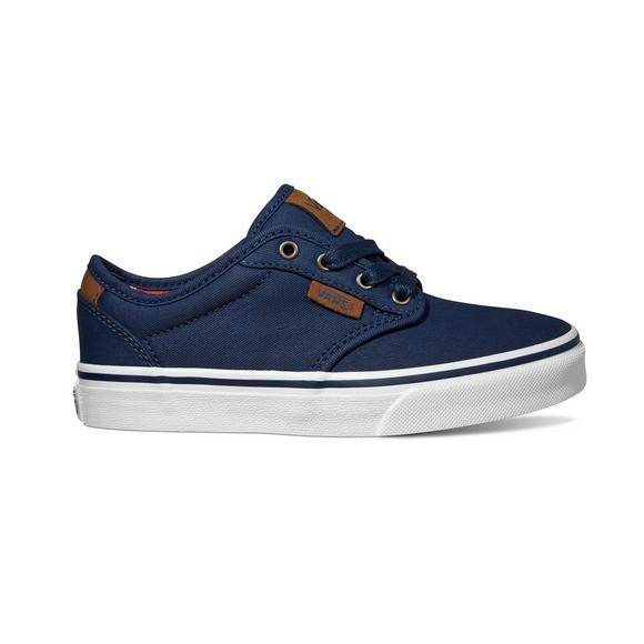 1400a31f330e74 Vans Atwood Low Grade School Navy White Boys  Skate Shoe - Main Container  Image