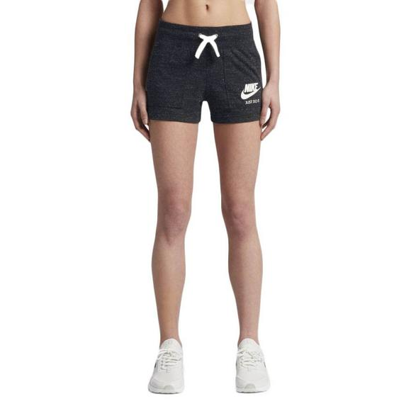 941545d5a072 Nike Women's Gym Vintage Shorts - Black - Main Container Image 1