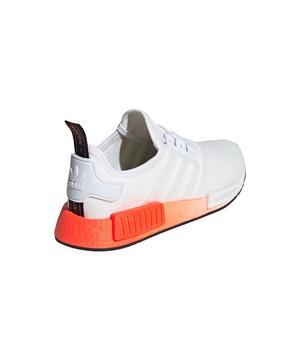 Adidas Nmd R1 Cloud White Solar Red Core Black Grade School Boys Shoe Hibbett City Gear