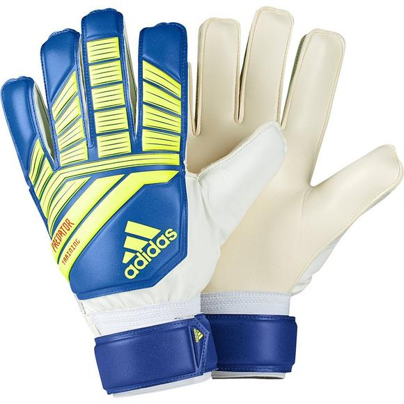 15670abb46 adidas Predator Training Soccer Gloves-Blue/Yellow - Hibbett US