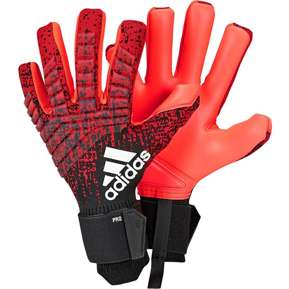 watch a84c1 1d0c2 adidas Predator Pro Soccer Gloves-Red Black - Main Container Image 1
