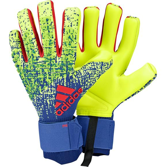 0666de5d00 adidas Predator Pro Soccer Gloves-Yellow/Blue - Hibbett US
