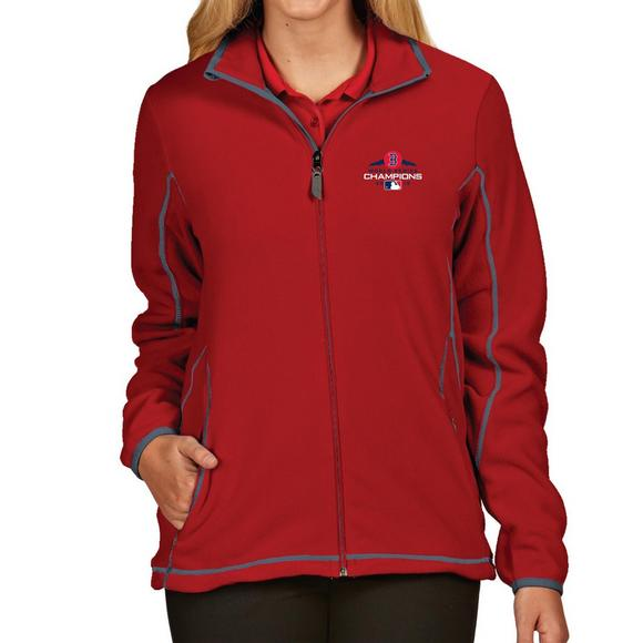 brand new 0bf94 a6621 Antigua Women's Boston Red Sox 2018 MLB World Series Champions Full-Zip Ice  Jacket