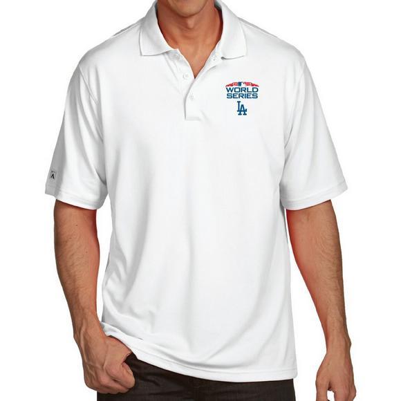 78cf17dfe63 Antigua Men s Los Angeles Dodgers 2018 MLB World Series Pique Polo Shirt -  Main Container Image