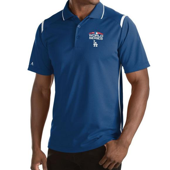 36a853d3d62 Antigua Men s Los Angeles Dodgers 2018 MLB World Series Merit Polo Shirt -  Main Container Image