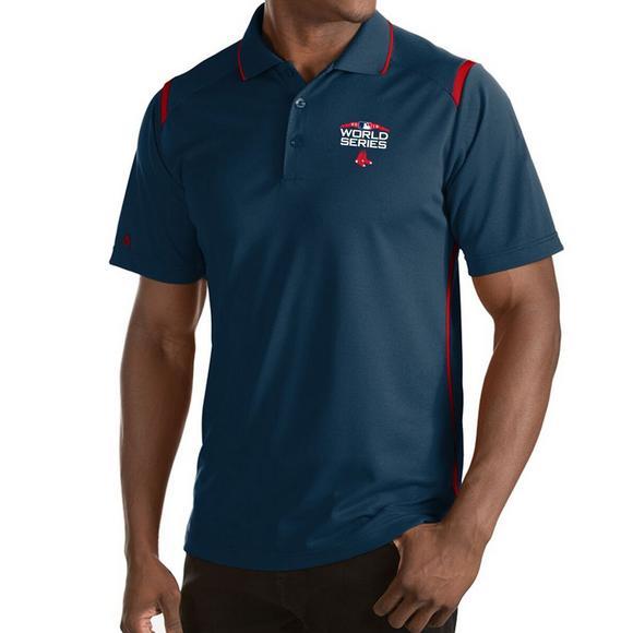 cd7544dfa40 Antigua Men s Boston Red Sox 2018 MLB World Series Merit Polo Shirt - Main  Container Image