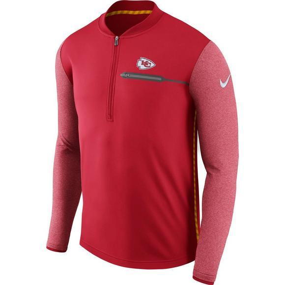 fd1774e0106 Nike Men s Kansas City Chiefs Coaches Top Half-Zip Jacket - Main Container  Image 1