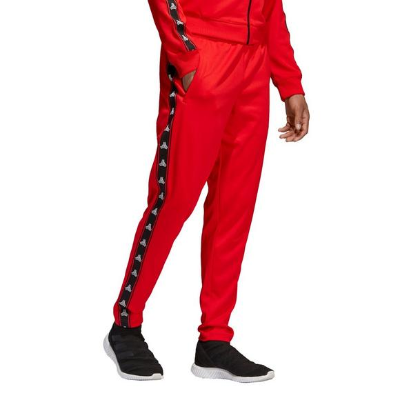 f6eb6cdf80 adidas Men's Tan Tape Clubhouse Pants - Red - Hibbett US