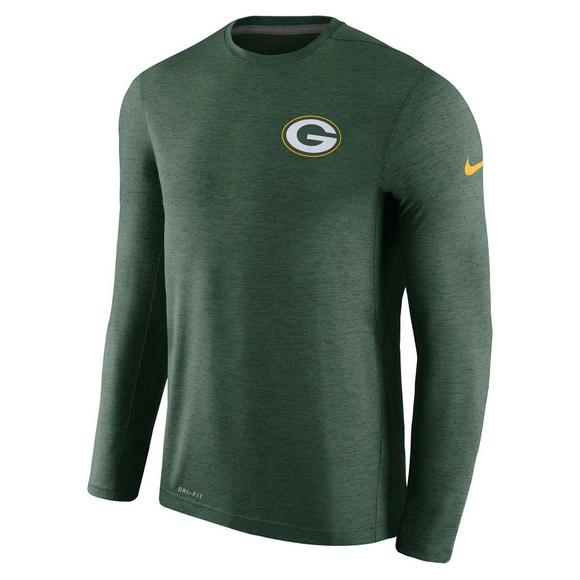 72e5a4428 Nike Men s Green Bay Packers Sideline Coaches Long Sleeve Performance T- Shirt - Main Container