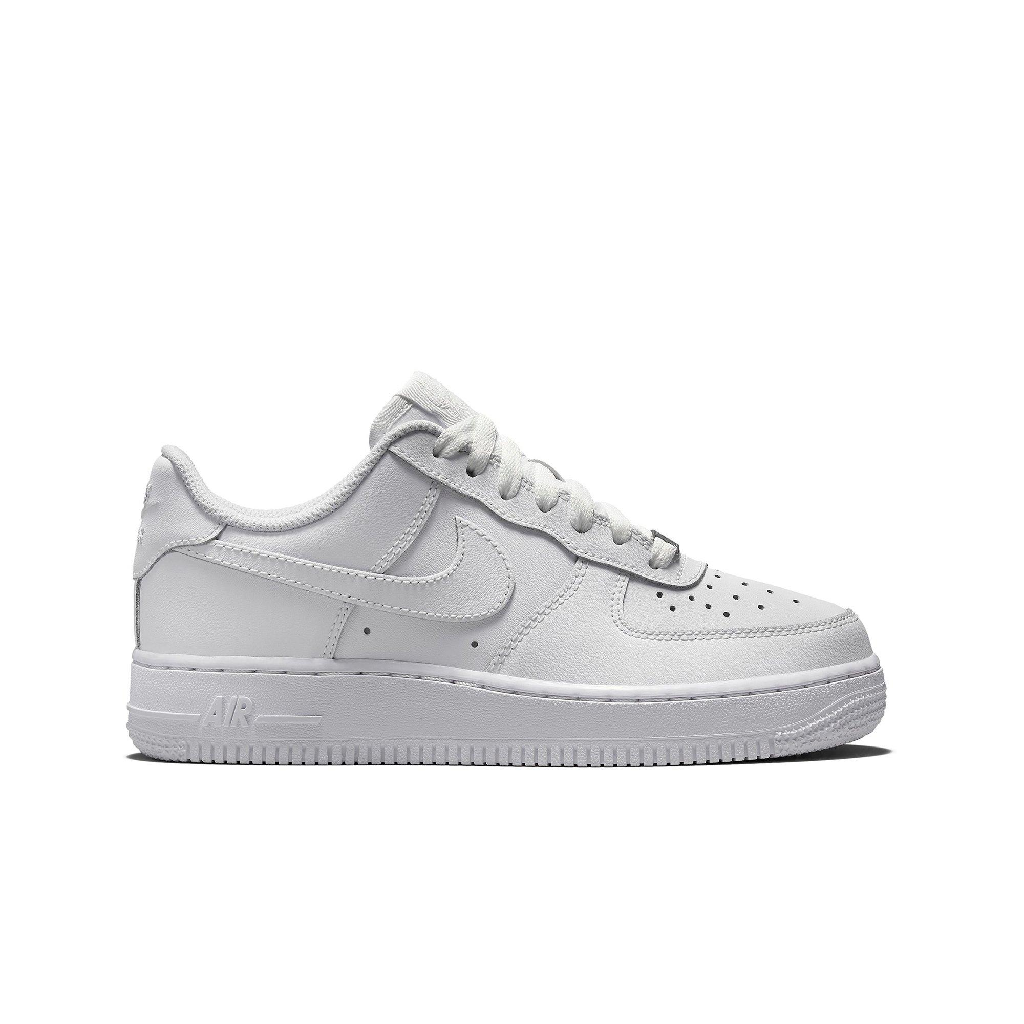 Nike Air Force 1 Low  GS SIZES Leather AF1 YOUTH Shoes Sneakers ALL WHITE DS