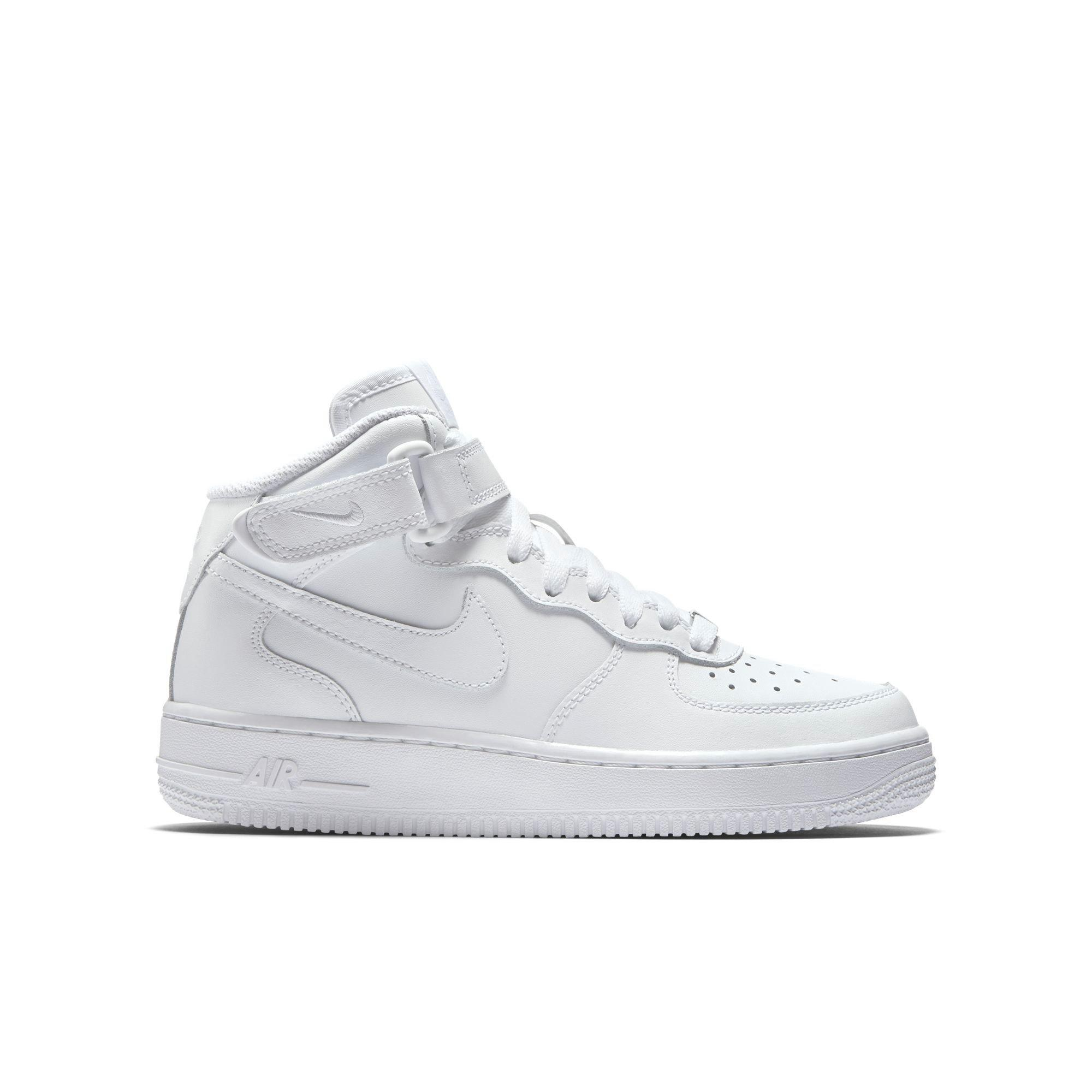 Nike Air Force 1 Highness GS Grade School Older Kids Grey Casual Lifestyle Shoes