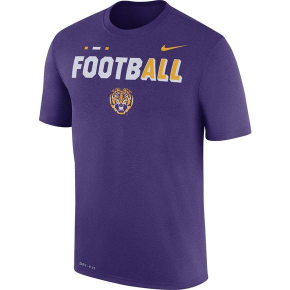 the best attitude e468f 0cb43 Nike Youth LSU Tigers FootbALL Sideline Legend T-Shirt ...