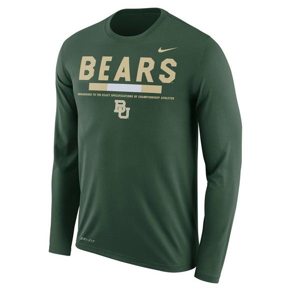 best service ed816 69ca4 Nike Men s Baylor Bears Legend Staff Long Sleeve T-Shirt - Main Container  Image 1