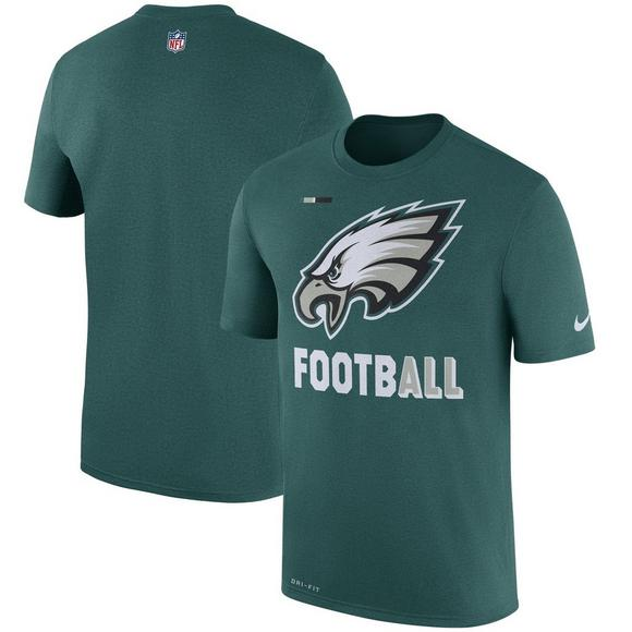 quality design e838b e7494 Nike Men's Philadelphia Eagles Sideline Legend Football Performance T-Shirt