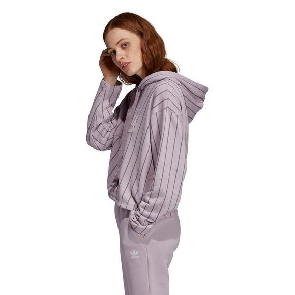 cb8084ddf7 adidas Women's Purple Cropped Hoodie