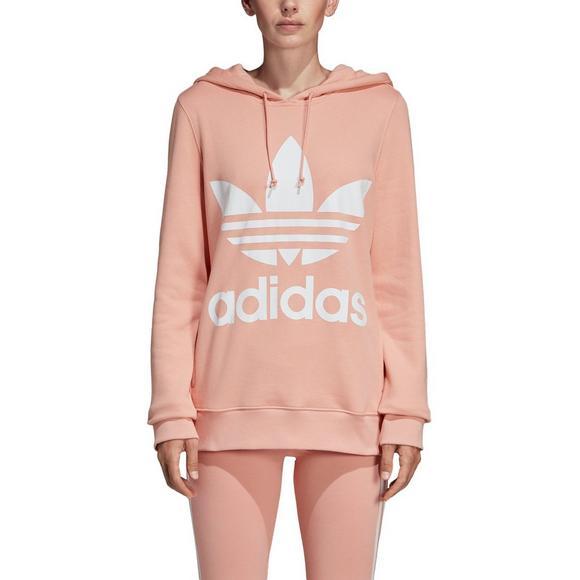 e2f509a01e adidas Women's Trefoil Hoodie - Pink - Hibbett US