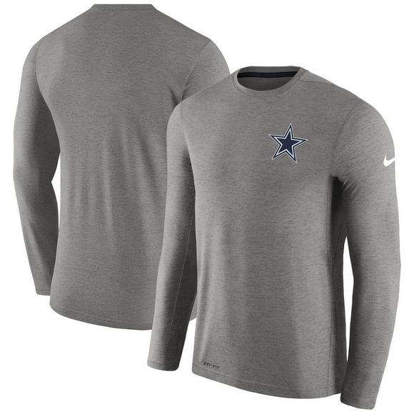 2b557e08032 Nike Men s Dallas Cowboys Sideline Coaches Long Sleeve Performance T-Shirt  - Main Container Image