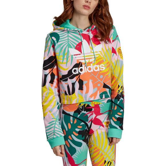 220b0d1d adidas Women's Originals Cropped Print Hoodie - Hibbett US