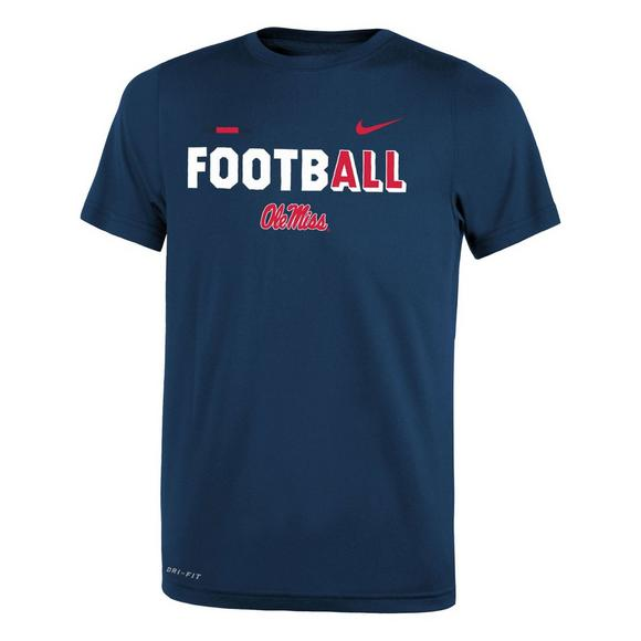 uk availability 0011e 035bc Nike Youth Ole Miss Rebels Legend FootbALL Performance T-Shirt - Main  Container Image 1