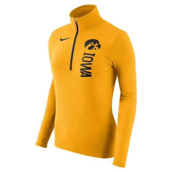 efa4c4e4 Nike Women's Iowa Hawkeyes Dry Element Quarter Zip Pullover Jacket - Main  Container Image 1