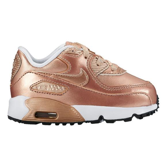 46ab3a91dc23 Nike Air Max 90 SE Leather Toddler Girls  Casual Shoe - Main Container  Image 1
