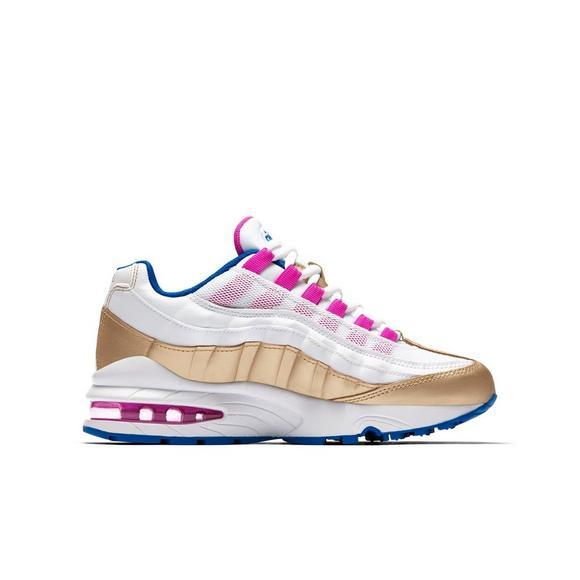 164c97cb3 ... cheap nike air max 95 white metallic gold grade school girls shoe bc4c6  f50ee