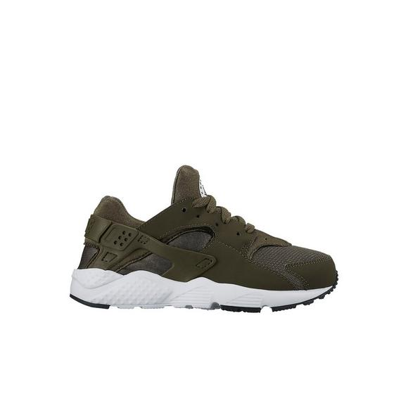 Mens NIKE HUARACHE Shoes Gray Green Sneakers 2010 Size 10