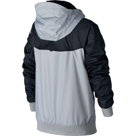 558d16e23624 Nike Boys  Sportswear Windrunner Jacket-Grey - Main Container Image 2