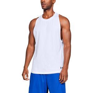 8812e9e3c1013f Under Armour Men s Baseline Cotton Basketball White Tank Top