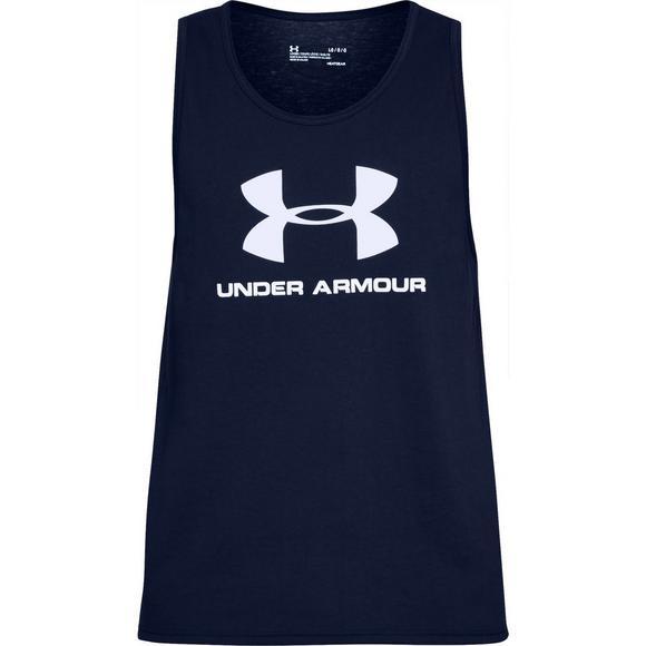2e646754 Under Armour Men's Sportstyle Logo Navy Tank Top