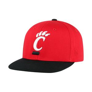a85555340e7 Top of the World Youth Cincinnati Bearcats Maverick Snapback Hat