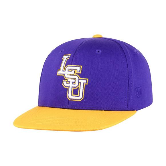 online store 993fa 5f225 Top of the World Youth LSU Tigers Maverick Snapback Hat - Main Container  Image 1