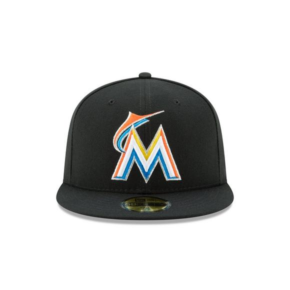 newest a7068 e5dfb New Era Miami Marlins 59FIFTY Authentic Collection Hat - Main Container  Image 2