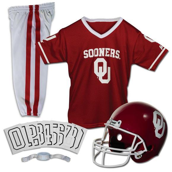 free shipping 44e1e ac462 Franklin Youth Oklahoma Sooners Medium Deluxe Football Uniform Set