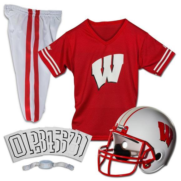 Franklin Youth Wisconsin Badgers Medium Deluxe Football Uniform Set