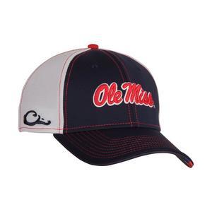 c431107f44ac42 Drake Waterfowl Ole Miss Rebels Stretch-Fit Hat ...