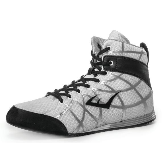 735404a72 Everlast Grid Low Top Boxing Shoes-White - Main Container Image 1