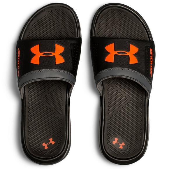 new product 34c00 2c430 Under Armour Playmaker VI Grade School Kid s Slide - Main Container Image 3