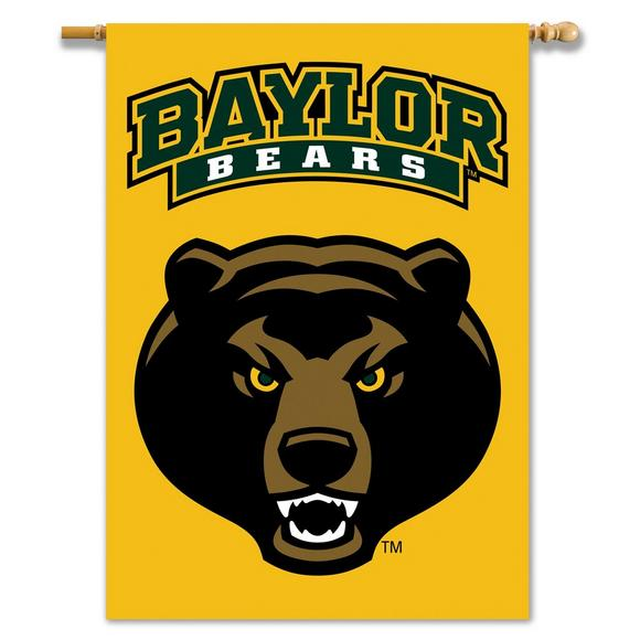 Bsi Products Baylor Bears Mascot Premium 2 Sided 28 X 40 Banner