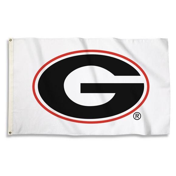 Bsi Products Georgia Bulldogs Logo White Flag Hibbett Us