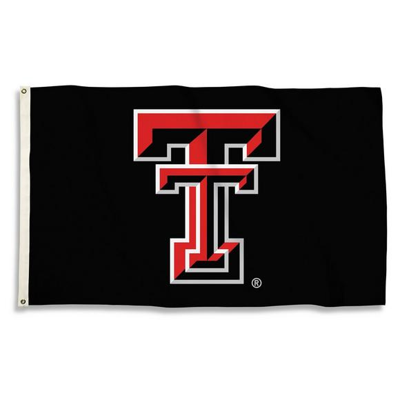 940c4288 BSI Products Texas Tech Red Raiders Logo Black Flag - Hibbett US