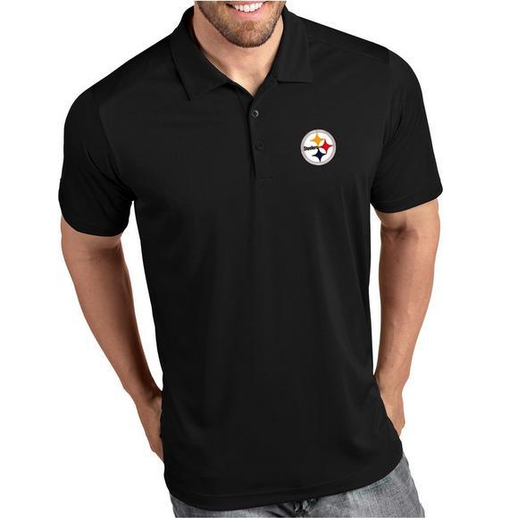 5041cb9f Antigua Men's Pittsburgh Steelers Tribute NFL Short Sleeve Polo