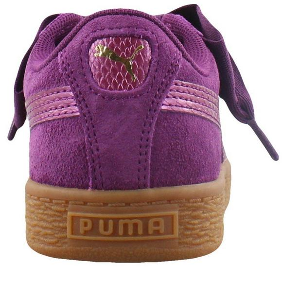 puma heart suede purple