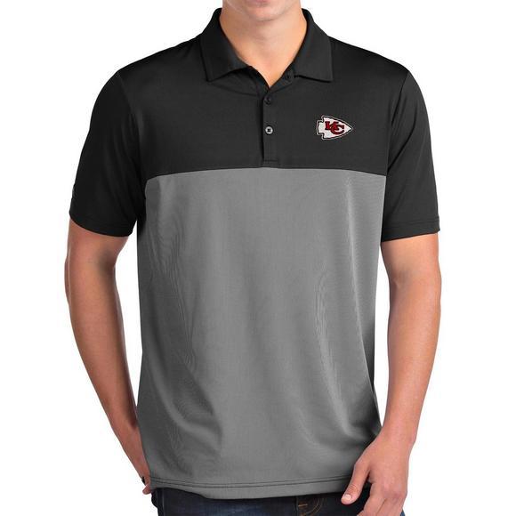 971c8cec Antigua Men's Kansas City Chiefs Venture NFL Short Sleeve Polo