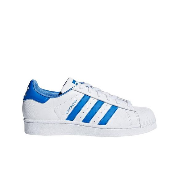 uk availability 28b77 c8343 ... official store adidas superstar white blue grade school kids shoes main  container image 5852d 3b373