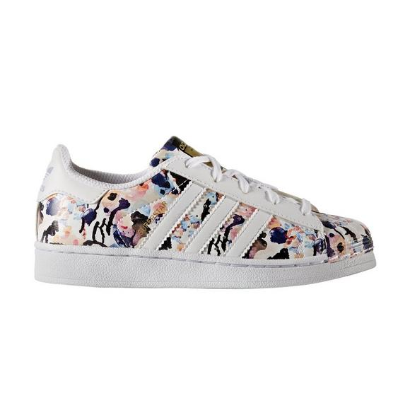 adidas Superstar Floral Preschool Girls  Casual Shoe - Main Container Image  1 fbcf08a54b2d